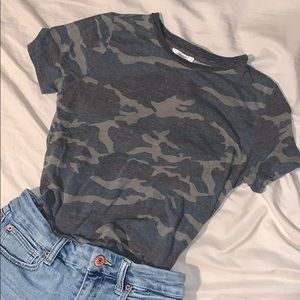 Forever 21 Faded Camo Tee T Shirt Short Sleeve